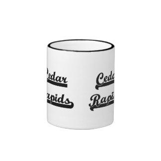 I love Cedar Rapids Iowa Classic Design Ringer Mug