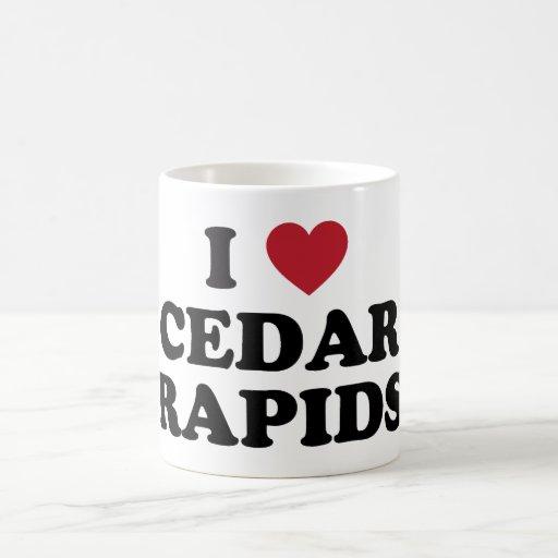 I Love Cedar Rapids Iowa Mugs