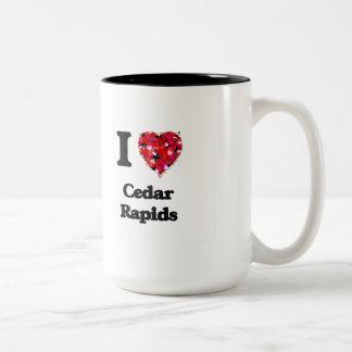 I love Cedar Rapids Iowa Two-Tone Mug