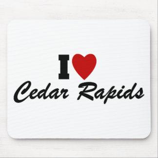 I Love Cedar Rapids Mouse Mats
