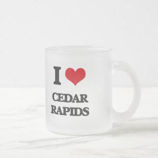 I love Cedar Rapids 10 Oz Frosted Glass Coffee Mug