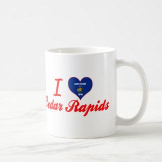 I Love Cedar Rapids Wisconsin Coffee Mugs