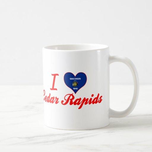 I Love Cedar Rapids, Wisconsin Coffee Mugs