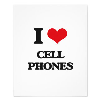 I love Cell Phones Full Color Flyer