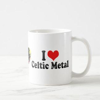 I Love Celtic Metal Mugs
