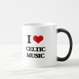 I Love CELTIC MUSIC Coffee Mug