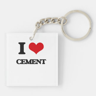 I love Cement Acrylic Key Chains