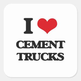 I love Cement Trucks Square Sticker