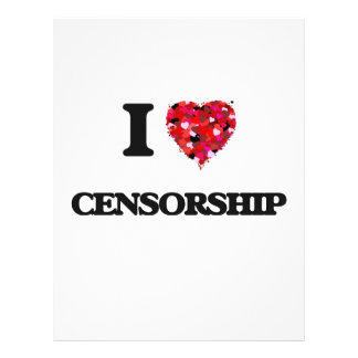 I love Censorship 21.5 Cm X 28 Cm Flyer