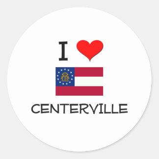 I Love CENTERVILLE Georgia Stickers