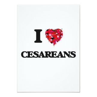 I love Cesareans 13 Cm X 18 Cm Invitation Card