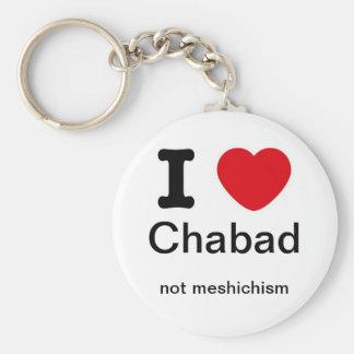 I love chabad, not meshichism keychain