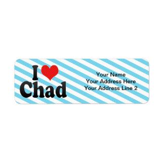 I Love Chad Return Address Label