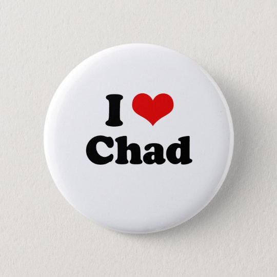 I Love Chad Tshirt 6 Cm Round Badge