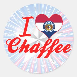 I Love Chaffee, Missouri Round Sticker
