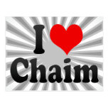 I love Chaim Post Card