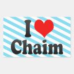 I love Chaim Rectangle Sticker