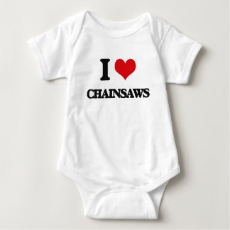 I love Chainsaws Baby Bodysuit