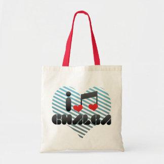 I Love Chalga Canvas Bags