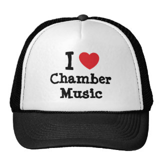 I love Chamber Music heart custom personalized Hats