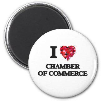 I love Chamber Of Commerce 6 Cm Round Magnet