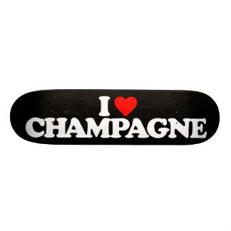 I LOVE CHAMPAGNE 21.6 CM SKATEBOARD DECK