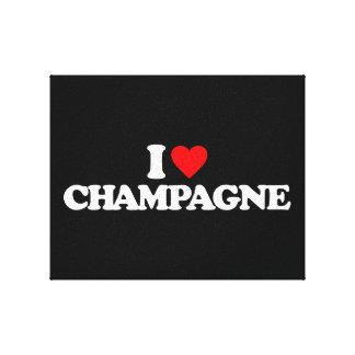 I LOVE CHAMPAGNE CANVAS PRINT