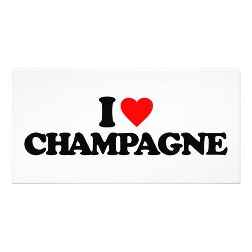 I LOVE CHAMPAGNE PICTURE CARD