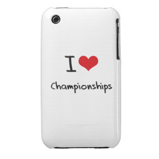I love Championships Case-Mate iPhone 3 Cases