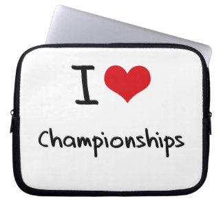 I love Championships Laptop Computer Sleeve