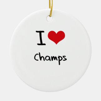 I love Champs Christmas Tree Ornament