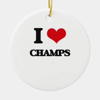 I love Champs Christmas Ornaments