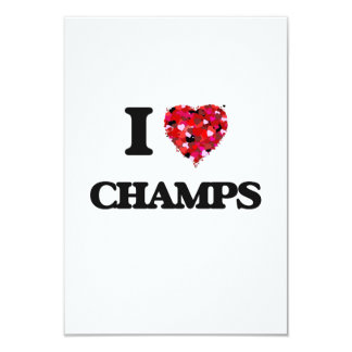I love Champs 9 Cm X 13 Cm Invitation Card