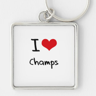 I love Champs Key Chain