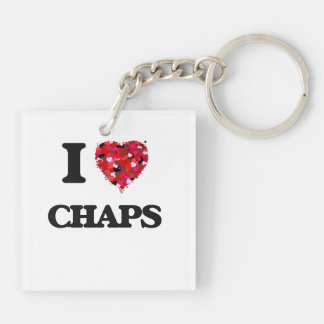 I love Chaps Double-Sided Square Acrylic Key Ring