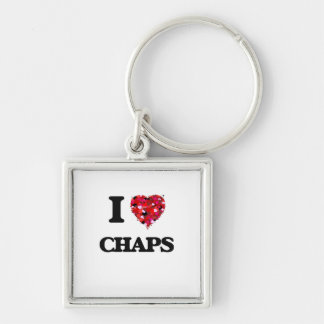 I love Chaps Silver-Colored Square Key Ring