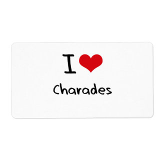 I love Charades Shipping Label