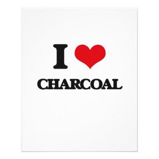 I love Charcoal 11.5 Cm X 14 Cm Flyer
