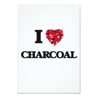 I love Charcoal 9 Cm X 13 Cm Invitation Card