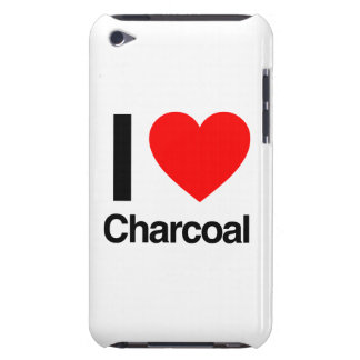 i love charcoal barely there iPod case
