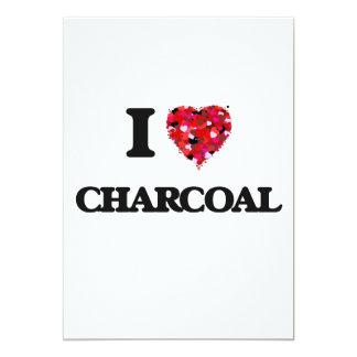 I love Charcoal 13 Cm X 18 Cm Invitation Card