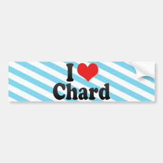 I Love Chard Bumper Stickers