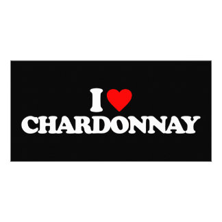 I LOVE CHARDONNAY PHOTO CARD TEMPLATE