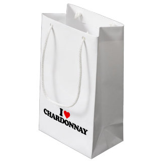 I LOVE CHARDONNAY SMALL GIFT BAG