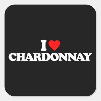 I LOVE CHARDONNAY STICKERS
