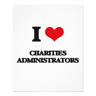 I love Charities Administrators Full Color Flyer