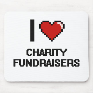 I love Charity Fundraisers Mouse Pad