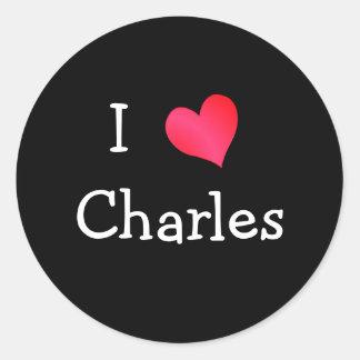 I Love Charles Classic Round Sticker