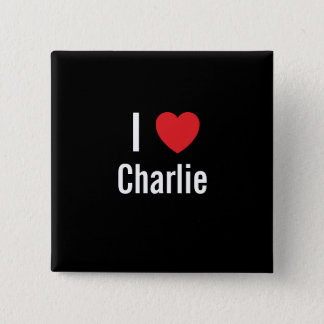 I love Charlie 15 Cm Square Badge