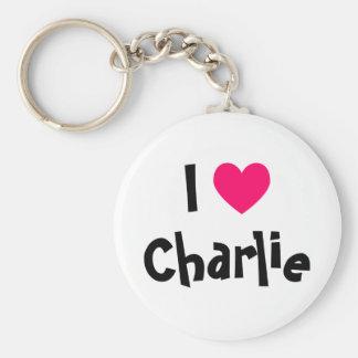I Love Charlie Key Ring